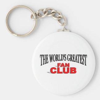 The World's Greatest Fan Club Basic Round Button Keychain