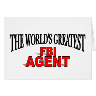 The World's Greatest FBI Agent Card