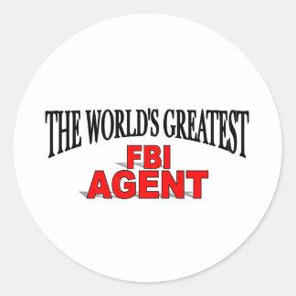 The World's Greatest FBI Agent Classic Round Sticker