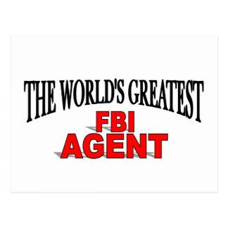The World's Greatest FBI Agent Postcard
