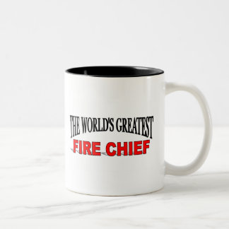 The World's Greatest Fire Chief Two-Tone Coffee Mug