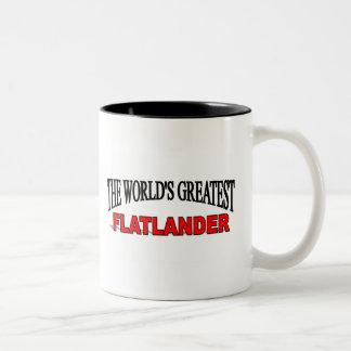 The World's Greatest Flatlander Two-Tone Coffee Mug