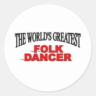 The World's Greatest Folk Dancer Classic Round Sticker