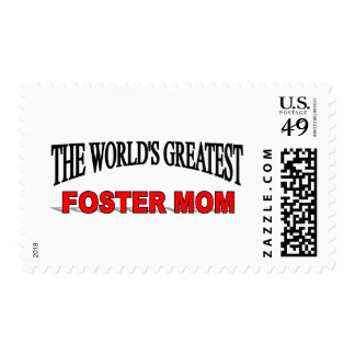 The World's Greatest Foster Mom Postage Stamp