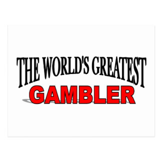 The World's Greatest Gambler Postcard