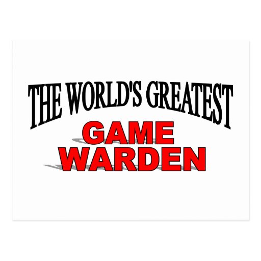 The World's Greatest Game Warden Postcards