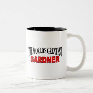 The World's Greatest Gardner Two-Tone Coffee Mug