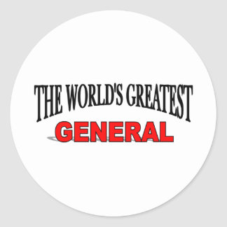 The World's Greatest General Classic Round Sticker