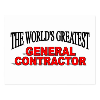 The World's Greatest General Contractor Postcard