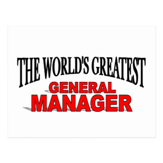 The World's Greatest General Manager Postcard