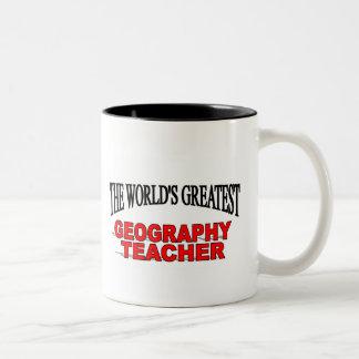 The World's Greatest Geography Teacher Two-Tone Coffee Mug