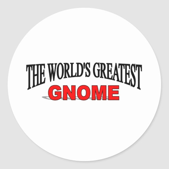 The World's Greatest Gnome Classic Round Sticker