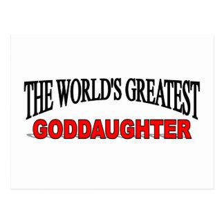 The World's Greatest Goddaughter Postcard