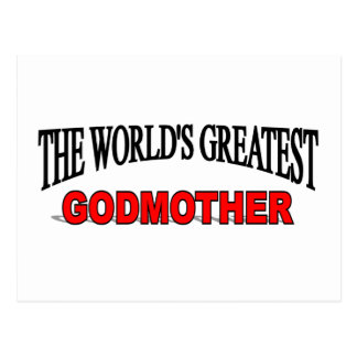 The World's Greatest Godmother Post Cards