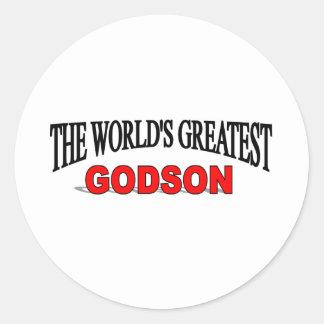 The World's Greatest Godson Classic Round Sticker