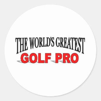 The World's Greatest Golf Pro Classic Round Sticker