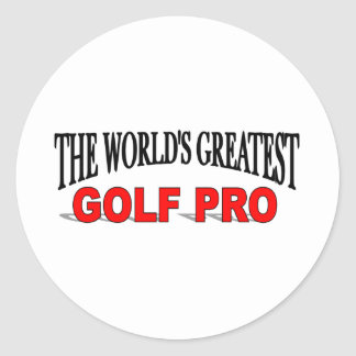 The World's Greatest Golf Pro Stickers
