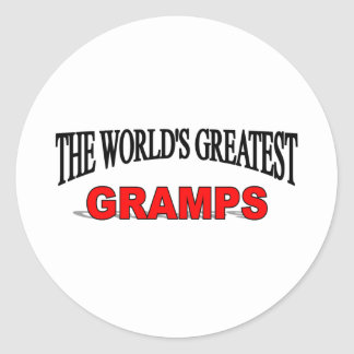 The World's Greatest Gramps Classic Round Sticker