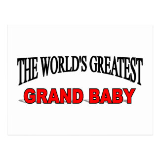The World's Greatest Grand Baby Postcard