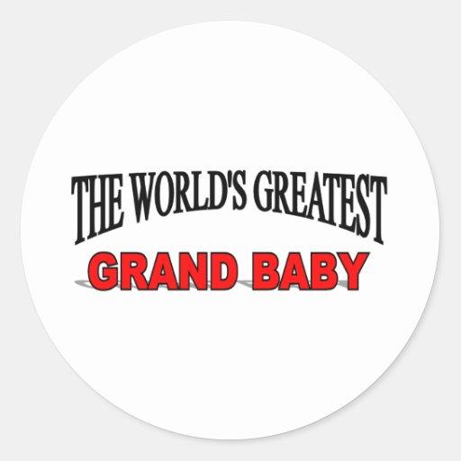 The World's Greatest Grand Baby Sticker