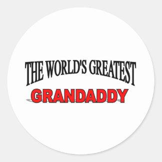 The World's Greatest Grandaddy Classic Round Sticker