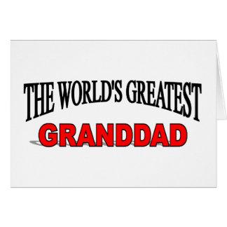 The World's Greatest Granddad Greeting Card