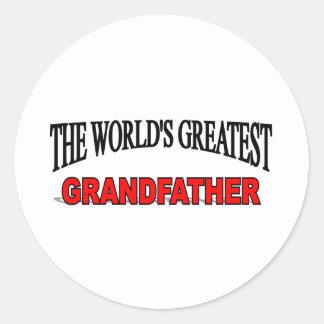 The World's Greatest Grandfather Classic Round Sticker