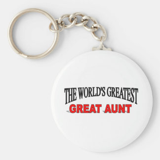 The World's Greatest Great Aunt Basic Round Button Keychain