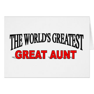 The World's Greatest Great Aunt Card