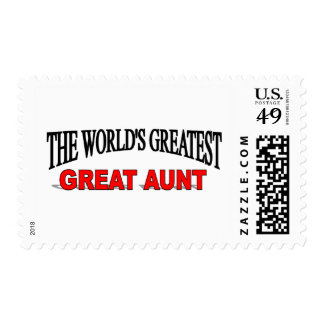 The World's Greatest Great Aunt Stamp