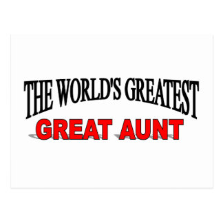 The World's Greatest Great Aunt Postcard
