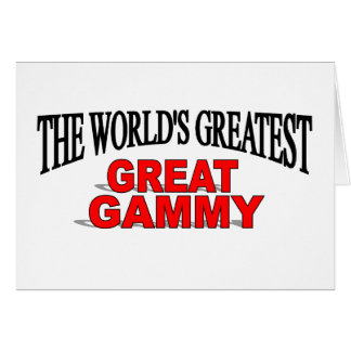 The World's Greatest Great Gammy Card