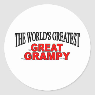 The World's Greatest Great Grampy Classic Round Sticker