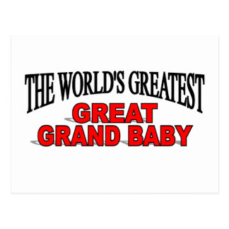 The World's Greatest Great Grand Baby Postcards