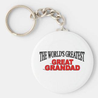 The World's Greatest Great Grandad Keychain