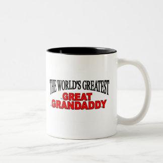 The World's Greatest Great Grandaddy Two-Tone Coffee Mug