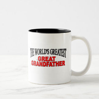 The World's Greatest Great Grandfather Two-Tone Coffee Mug