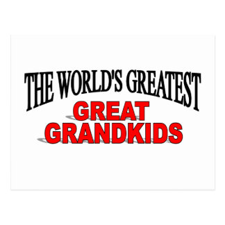 The World's Greatest Great Grandkids Postcard
