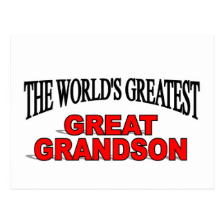 The World's Greatest Great Grandson Postcard