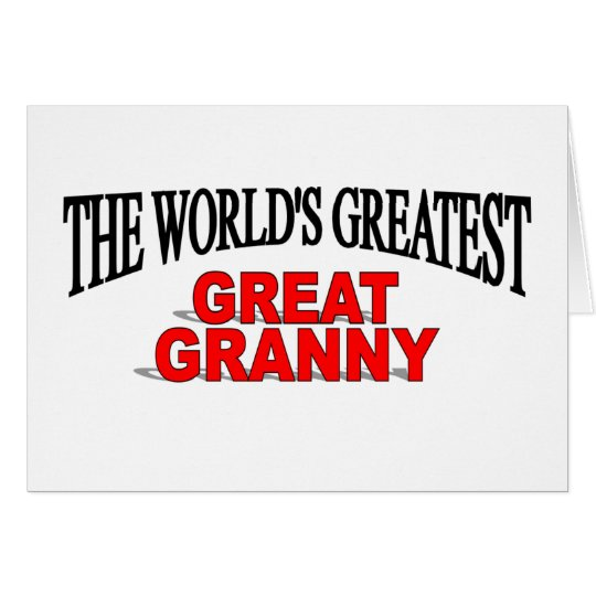 The World's Greatest Great Granny Card