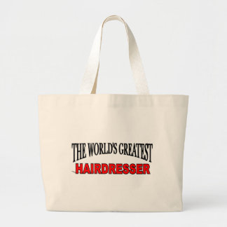 The World's Greatest Hairdresser Canvas Bags