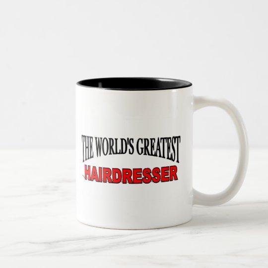 The World's Greatest Hairdresser Two-Tone Coffee Mug
