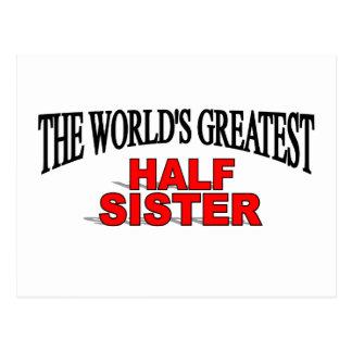 The World's Greatest Half Sister Postcard