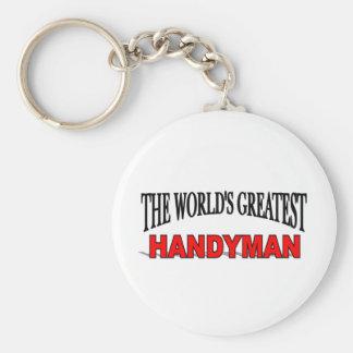 The World's Greatest Handyman Basic Round Button Keychain