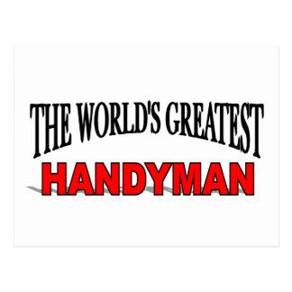 The World's Greatest Handyman Postcard