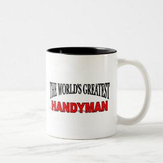 The World's Greatest Handyman Two-Tone Coffee Mug