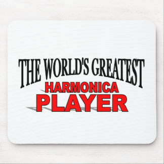 The World's Greatest Harmonica Player Mouse Pad