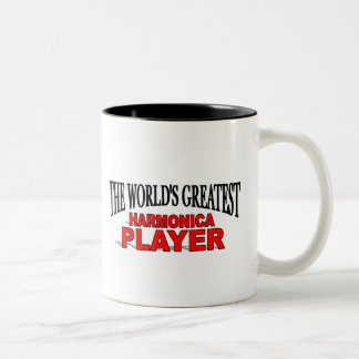 The World's Greatest Harmonica Player Two-Tone Coffee Mug