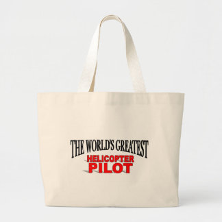 The World's Greatest Helicopter Pilot Jumbo Tote Bag
