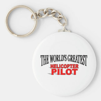 The World's Greatest Helicopter Pilot Basic Round Button Keychain